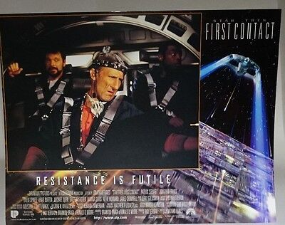 Star Trek First Contact 1996 UK Mini Poster Original Riker, George and Zefram