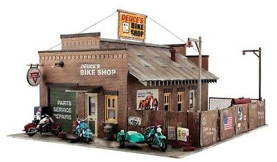 Woodland Scenics [WOO] O Deuce's Bike Shop Building Kit PF5895 WOOPF5895