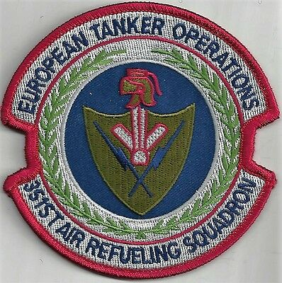 Usaf 351St Air Refueling Sq Patch    -   'european Tanker Operations'     Color