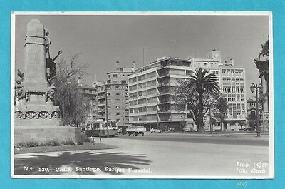Postcard from Chile - Santiago - Parque Forestal - 1954