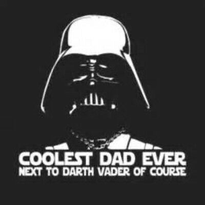 f0540214 COOLEST DAD EVER NEXT TO DARTH VADER OF COURSE father star wars awesome  magnet