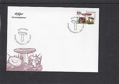 Iceland 2012 Mushrooms First Day Cover FDC Reykjavik pictorial h/s