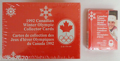 1992 Canadian Winter Olympic Collector Cards + Canadian Medal Winners (((New)))