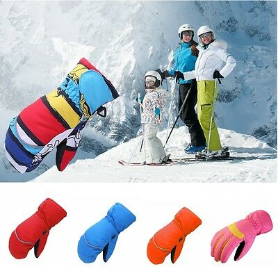 Child Snow Ski Gloves Boys Girls Winter Thick Outwear Mittens Warmer 6 Colors
