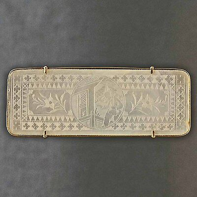 Antique, c1815, 14K Yellow Gold & Mother of Pearl Chinese Gambling Counter Token