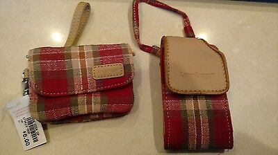 Longaberger Orchard Park Plaid Coin Purse and Card holder MINT never used!