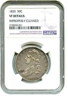 1835 50c NGC VF Details (Improperly Cleaned) - Bust Half Dollar