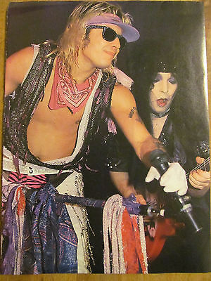 Motley Crue, Vince Neil and Mick Mars, Full Page Vintage Pinup