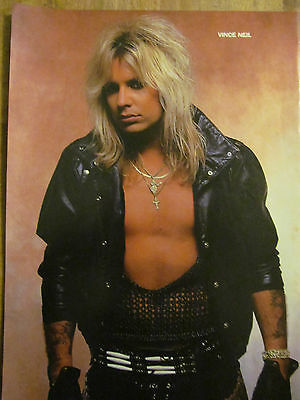 Vince Neil, Motley Crue, Double Full Page Vintage Pinup