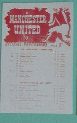 1945 F.A. League cup final (North) 2nd leg programme Manchester United v Bolton.