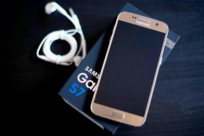 New Samsung Galaxy S7 SM-G930A 32GB AT&T GSM Unlocked Gold Smartphone