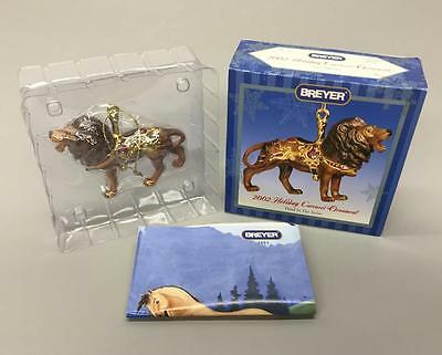 New BREYER 2002 Porcelain Lion Holiday Carousel Christmas Ornament NIB #700502