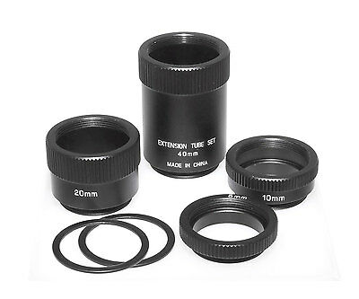 Adapter Ring set - Extension Tubes for c-mount lens, 1796N
