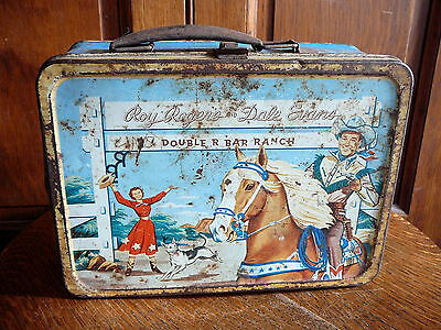 Roy Rogers Dale Evans Double R Bar Ranch 1953 American Thermos  Metal Lunch Box