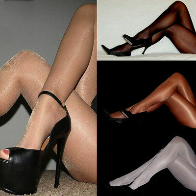 Fashion Sexy Womens Shiny Pantyhose Glitter Stockings Glossy Sheer Tights Party