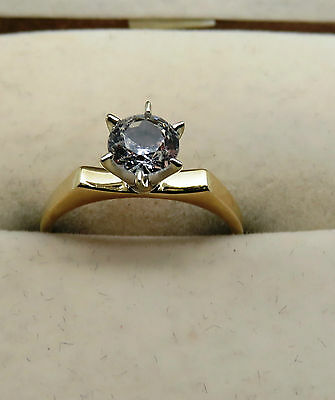 WOMENS HALLMARKED 9 ct YELLOW GOLD 2.5 gr SIZE N RING - 76853