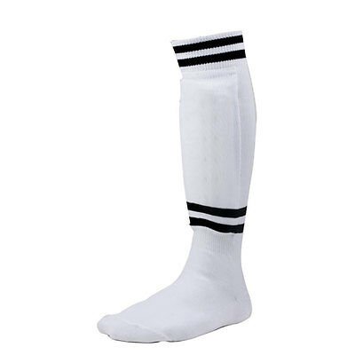 Champion Sports Sock Style Soccer Shinguards & Ankle Protector White Youth Small