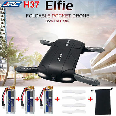 FPV Quadcopter JJRC H37 Foldable Pocket Sized HD Camera RC Drone Altitude Hold