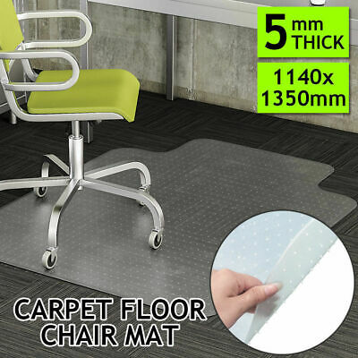 1140 x 1350mm Carpet Floor Office Computer Work Chair Mat Vinyl Plastic protect