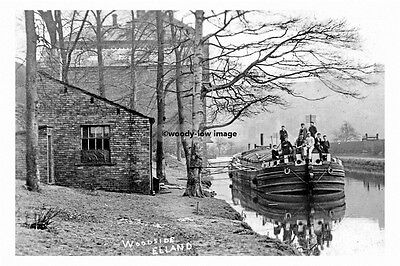 pt4771 - Elland , Barge on Canal at Woodside , Yorkshire - photo 6x4