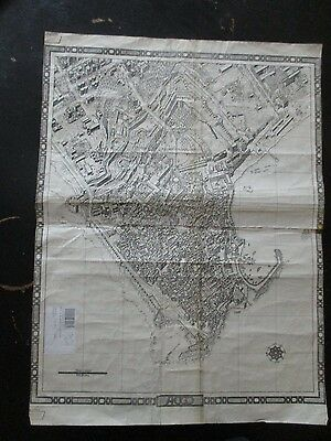 The City Of Acre: A  Black & White  German Map, 1:1800 Scale.  Vbok199
