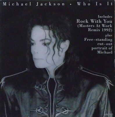 """MICHAEL JACKSON - Who Is It / Rock With You ~ 7"""" Single PS"""