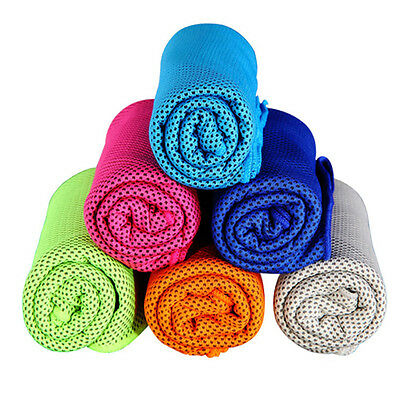 Ice Cold Enduring #L Running Jogging Gym Chilly Pad Instant Cooling Towel Sports