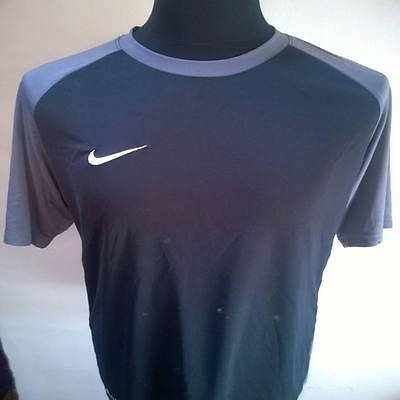 Black Soccer Top Nike Football Shirt Jersey Size Adult L