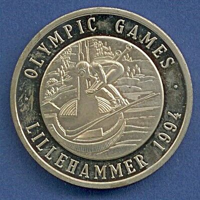 Medaille Winterolympiade Olympic Games Lillehammer 1994 Ski Ø 40 mm A12/148