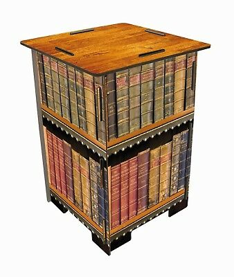 Werkhaus Library Antique Books Low Wooden Stool