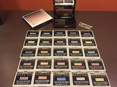Mary Kay Lot of 10 Mineral Eye Colors-You Choose + Compact & Brushes  *NIB*  FS