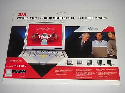 """3M Privacy Filter PF133W9 13.3"""" Widescreen 16:9 for Notebook & LCD Monitors NEW"""