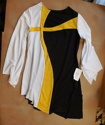 NWT Praise Liturgical Bell Sleeve Top Gold Cross Inset  Extra Large Adult Ladies