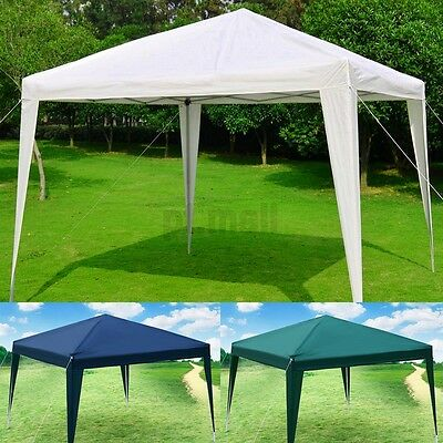 3x3M Pop-up Waterproof Outdoor Garden Gazebo Party Tent Marquee Canopy White