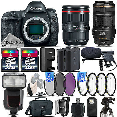 Canon 5D Mark IV DSLR Full Frame Camera + 24-105mm IS II + 70-300mm IS USM +64GB