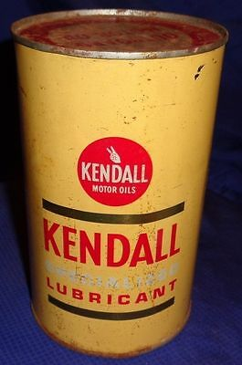 RF2350 Vtg Kendall 2 Cycle Outboard Motor Oil Tin Can 1 Qt Full