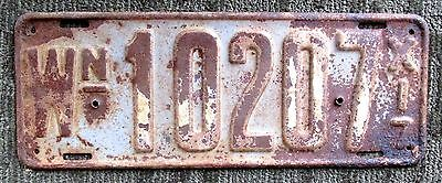 Rare 1917 WASHINGTON LICENSE PLATE 10207 vintage antique auto car art sign WA US
