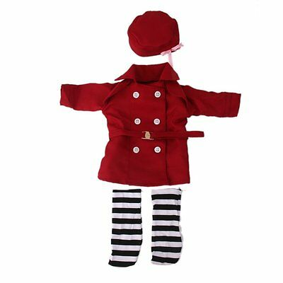 """New Fashion Wind Coat Dress Clothes with Hat Socks For 18"""" American Girl Dolls"""