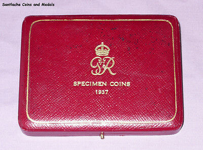 1937 ROYAL MINT GviR CORONATION GOLD PROOF SET COINS CASE ONLY