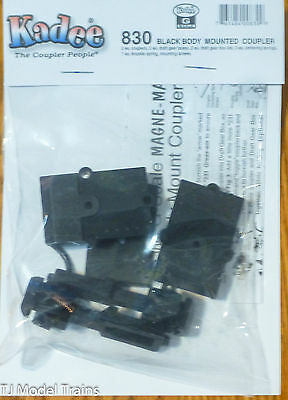 Kadee #830 (G Scale) Black Body Mounted Coupler (1 Pair in pkg)