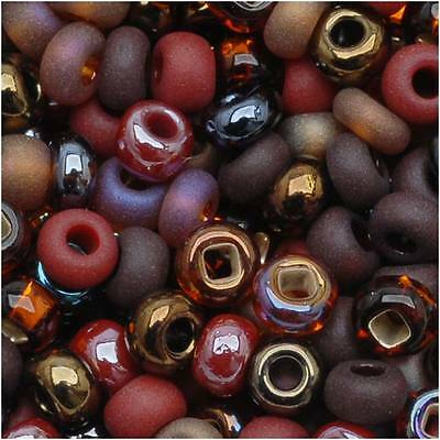 "Czech Seed Beads 8/0 ""Chocolate Mud Pie Mix"" (1 Ounce)"