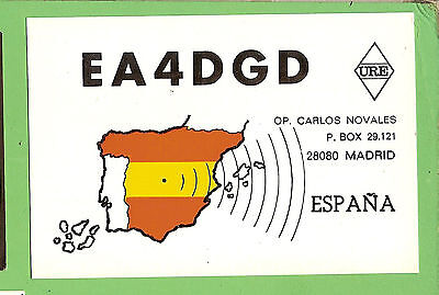 #n. Qsl Card Radio Contact Card - Ea4Dgd, Madrid, Spain