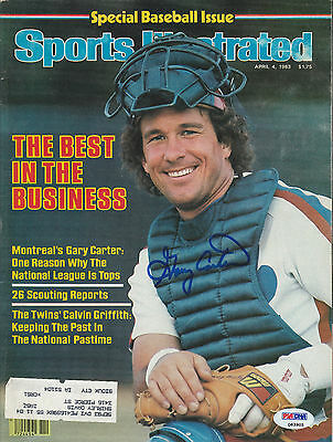 Gary Carter Signed Auto'd Sports Illustrated Magazine Psa/dna Coa Expos Mets A