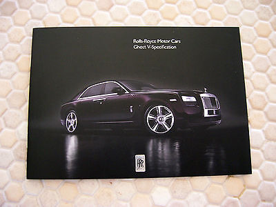 Rolls Royce Ghost V Specification Promotional Brochure 2014 Usa Edition