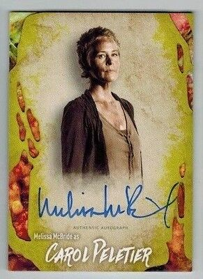 MELISSA McBRIDE as CAROL - 2016 TOPPS WALKING DEAD SURVIVAL INFECTED AUTO 01/99