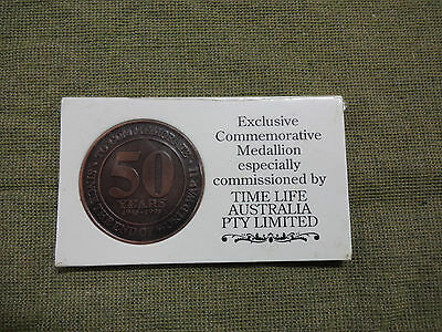 #D268.  1945 to 1995 TIME LIFE WWII LEST WE FORGET   MEDAL