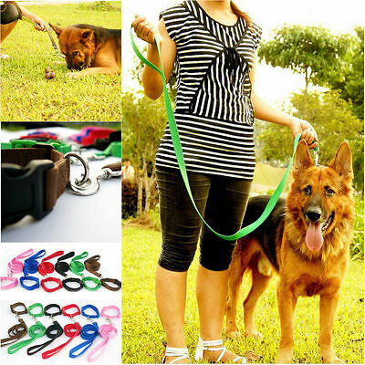 120cm Strong Nylon Dog Pet Lead Leash with Clip for Collar Harness 5 Colours HOT