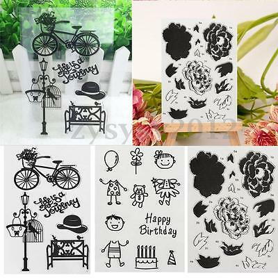 DIY Transparent Silicone Clear Rubber Stamp Sheet Cling Scrapbooking Card Craft