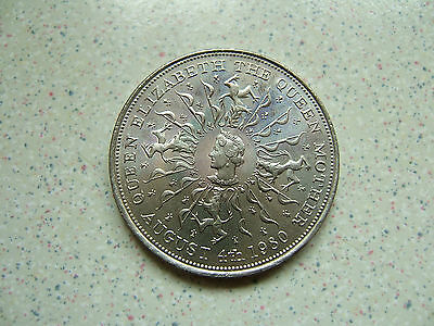 1980  'QUEEN MUM'S 80th BIRTHDAY'  COMMEMORATIVE  CROWN COIN ( 25 pence )