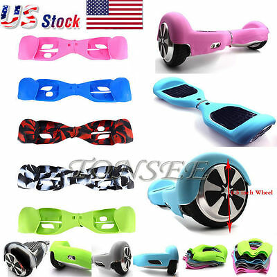 "For 6.5"" 2 Wheels Silicone Smart Self Balancing Scooter Hover Board Case Cover"